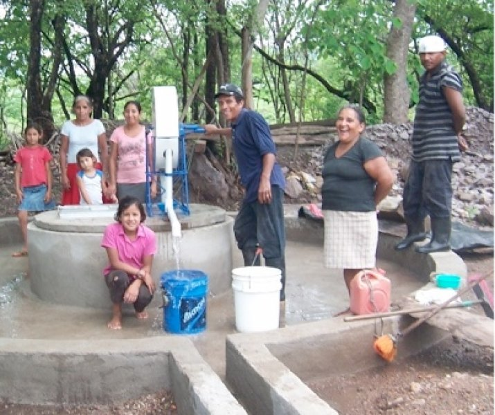 family with well