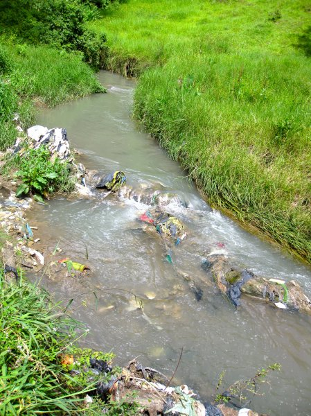 Trash in River, Guatemala
