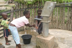 children using well