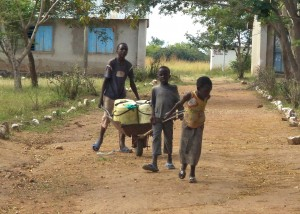 Kids Fetching Water