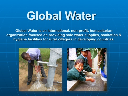 Presentation - Global Water : Global Water